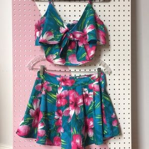 Fashion Nova tropical two piece set